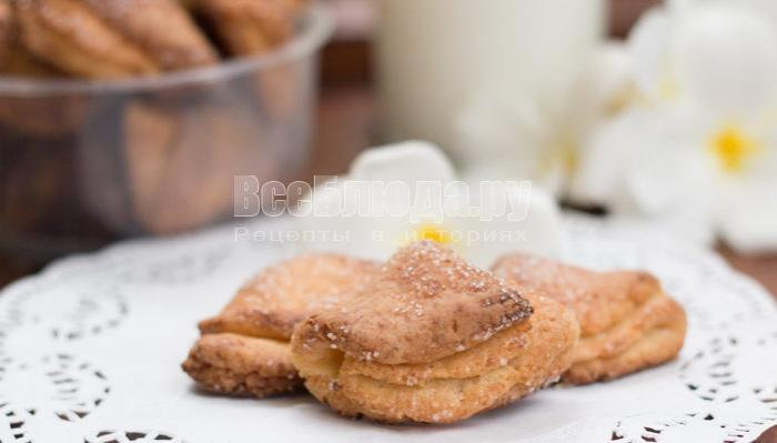 Творожные Ушки, печенье из творога