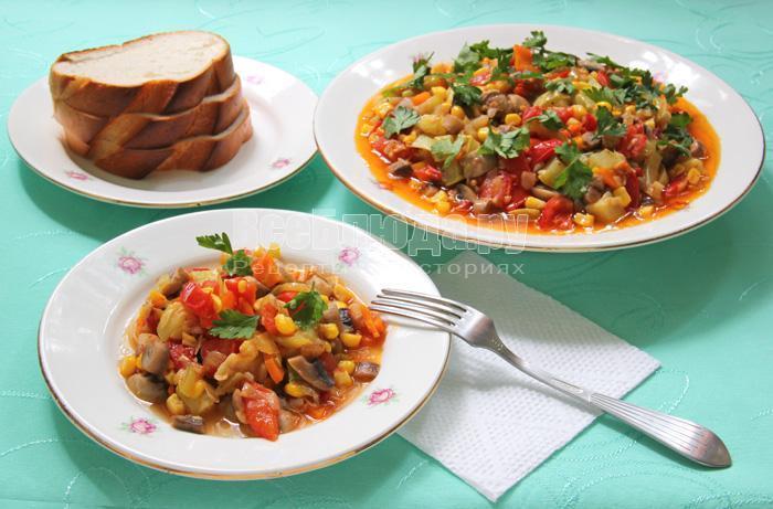 рецепт овощного соте