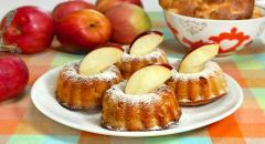 Рецепт маффинов на кислом молоке с яблоками и корицей
