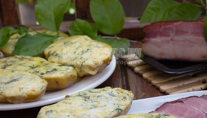 как приготовить картошку в духовке с чесноком и сыром