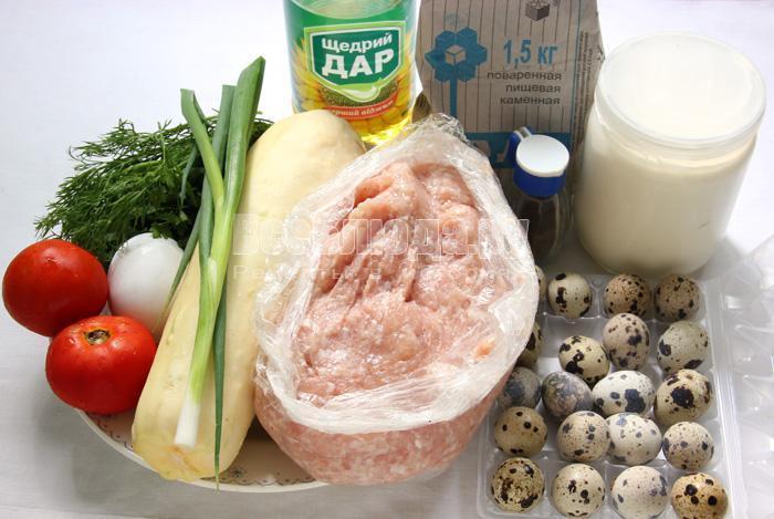 ингредиенты для закуски Ласточкины гнезда