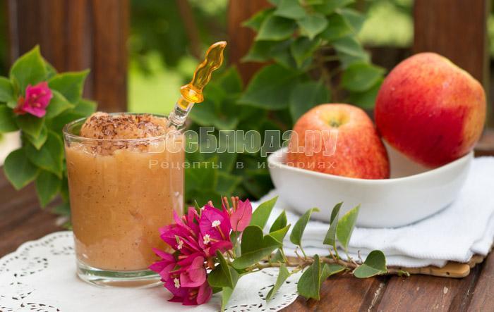 как приготовить яблочный мусс