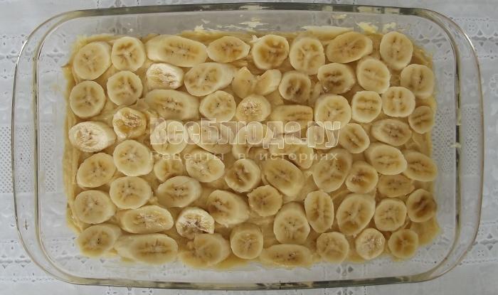 Рецепт бананового пирога на скорую руку