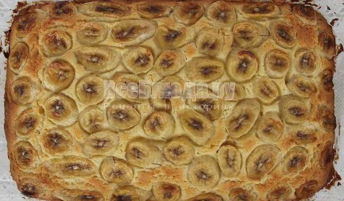 пирог с бананами из духовки