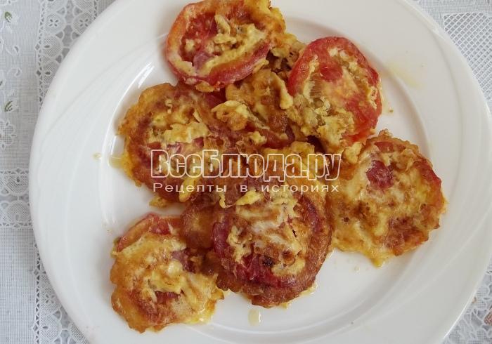 жарим помидоры в кляре