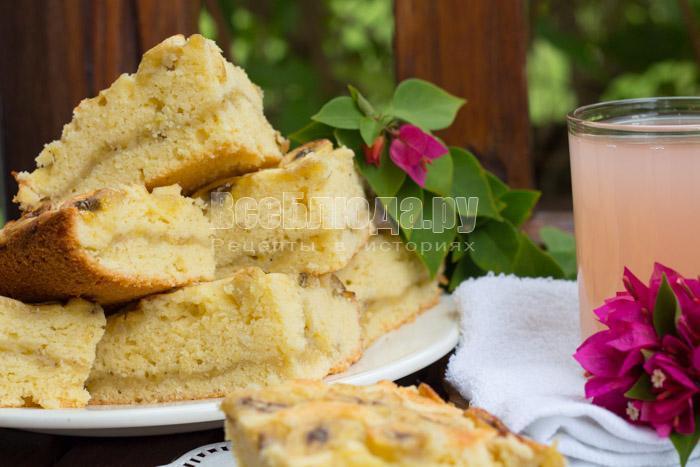 как приготовить пирог с бананами