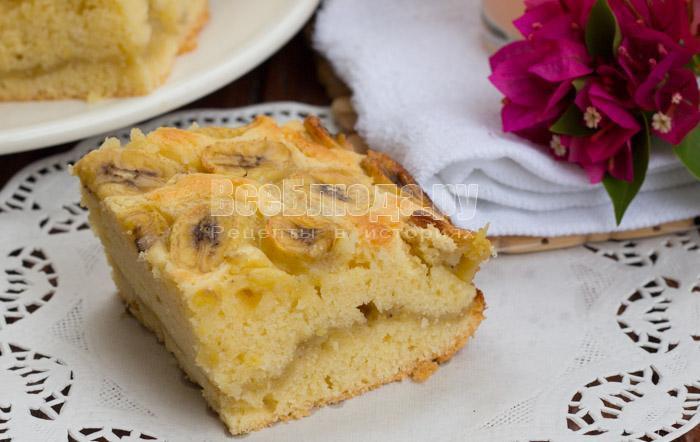 Банановый пирог на скорую руку рецепт