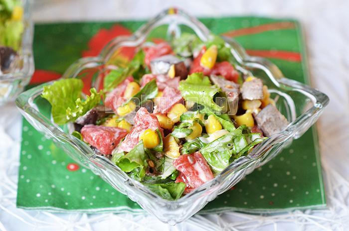 вкусный печеночный салат