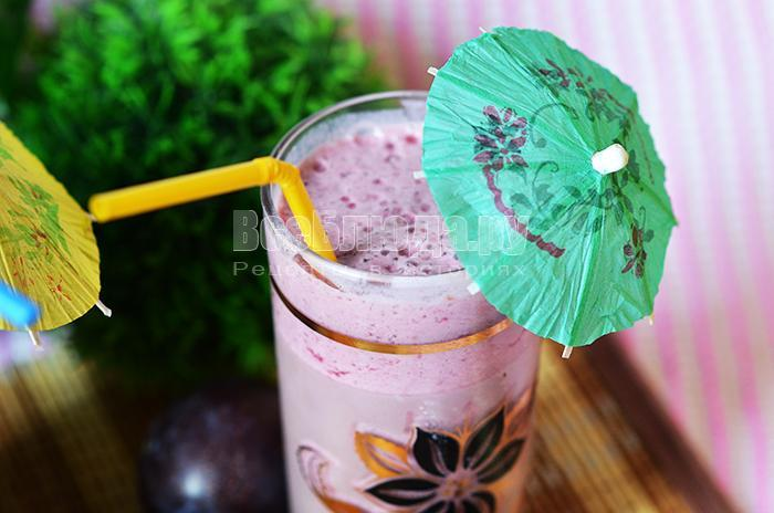рецепт коктейля с малиной и молоком
