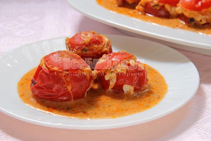 яйца в помидорах, рецепт с фото