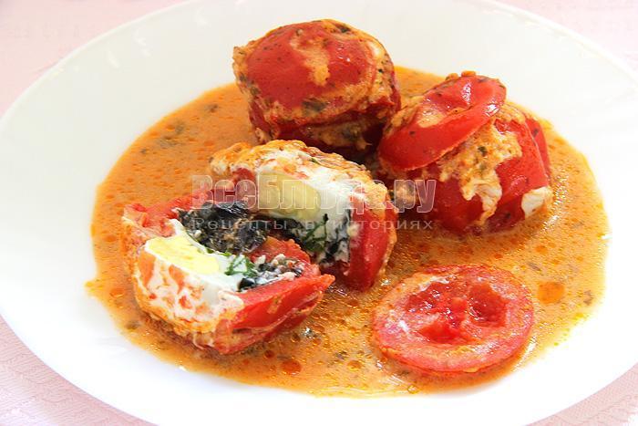 рецепт томатов с перепелиными яйцами