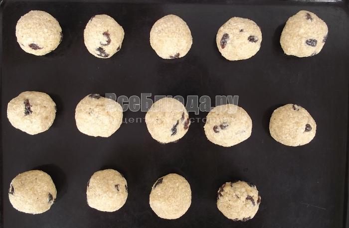 скатать овсяное печенье