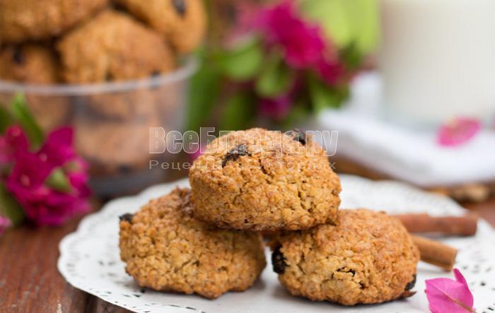 рецепт вкусного овсяного печенья без муки
