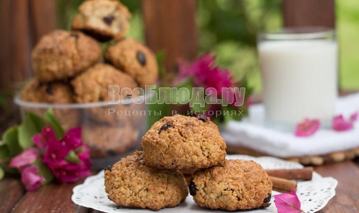 рецепт печенья из овсянки без муки