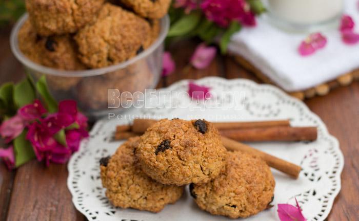 вкусный и простой рецепт овсяного печенья с изюмом