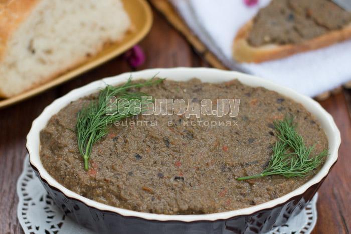 рецепт печеночного паштета с баклажанами