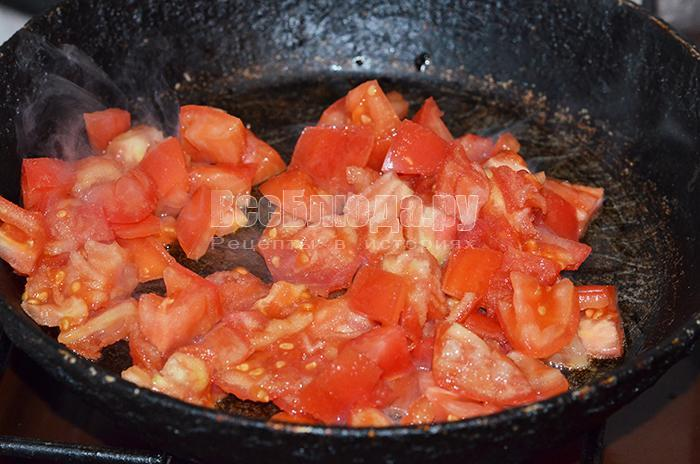 обжарьте помидоры