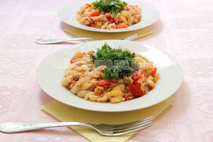 рецепт приготовления макарон по-флотски