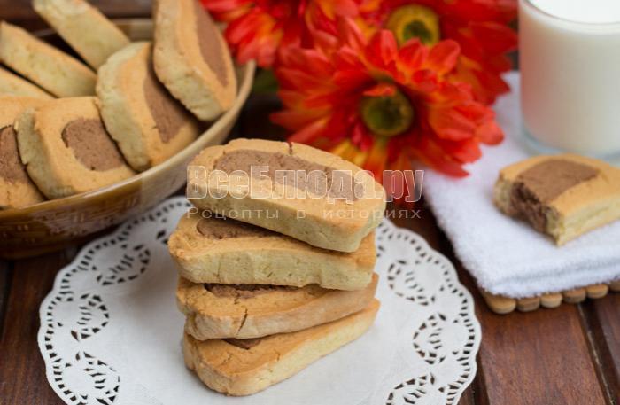 Рецепт простого песочного печенья к чаю