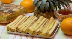 Торт с консервированными ананасами и желатином