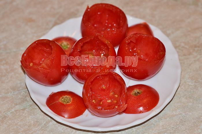 вычистите помидоры