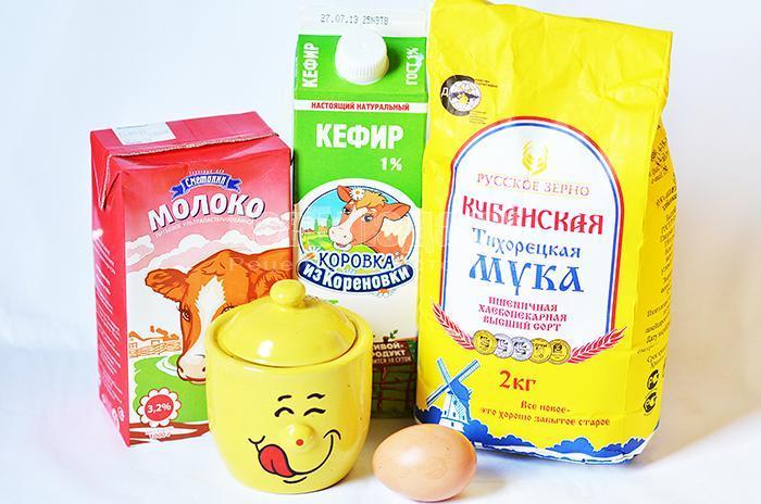 необходимые ингредиенты для пышек: