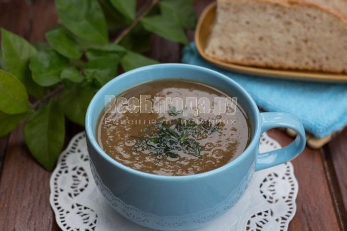 готовый суп с баклажанами