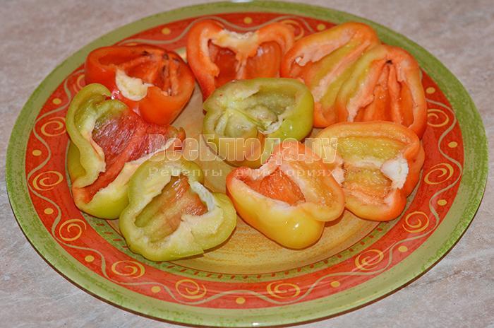 очистите болгарский перец