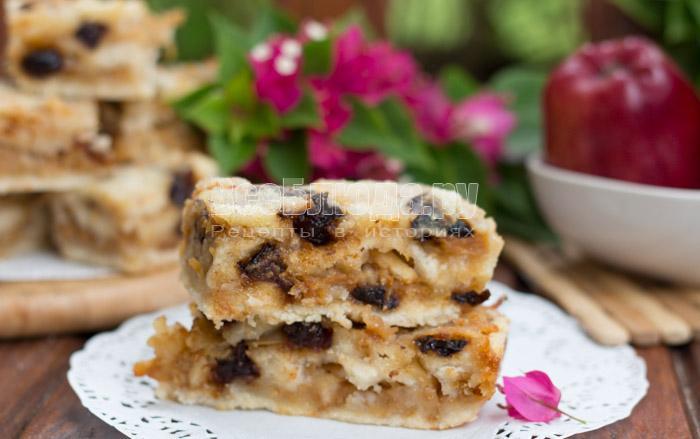 рецепт пирога из сухой смеси с яблоками