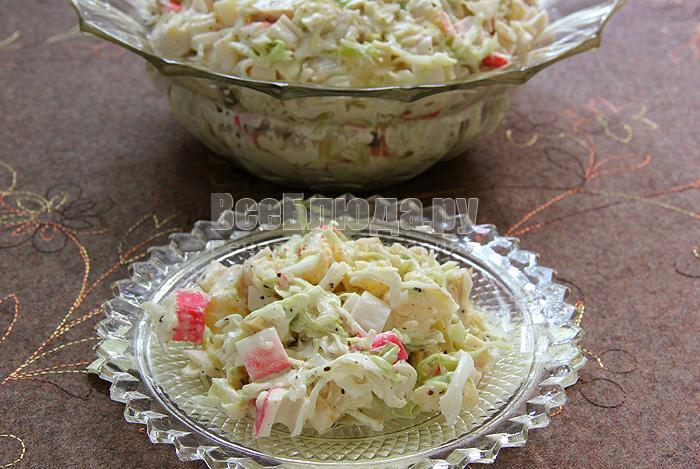 рецепт салата с сельдереем и ананасом