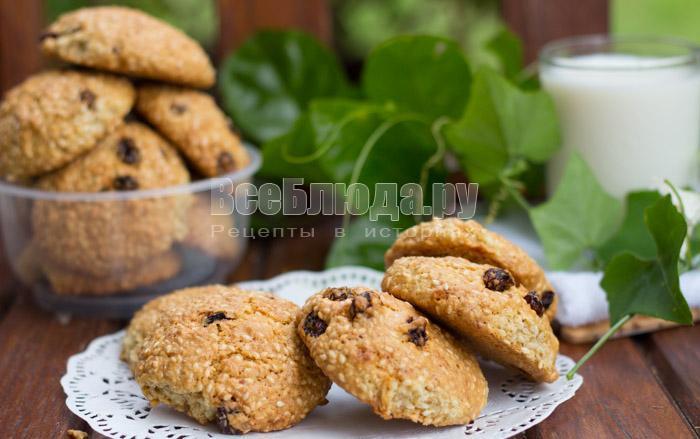 рецепт кунжутного печенья с фото