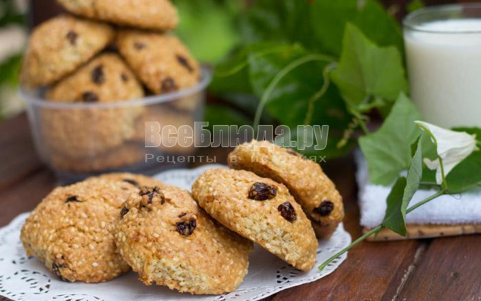 как приготовить печенье с кунжутом