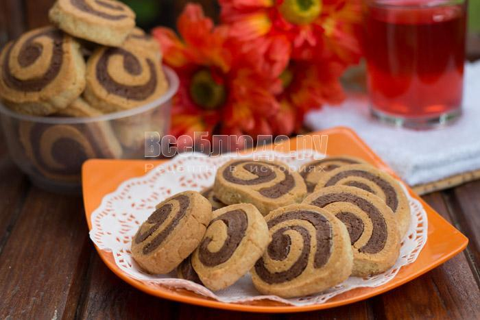 рецепт печенья спиральки
