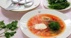 Рецепт борща с кабачками и яблоком на курином бульоне