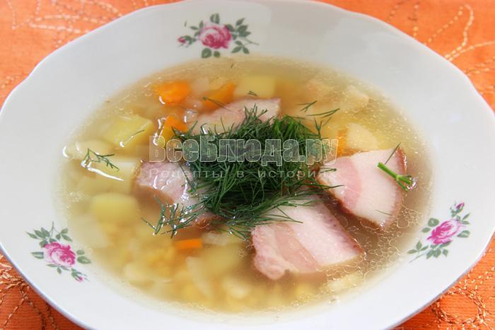 рецепт горохового супа с копченой щековиной