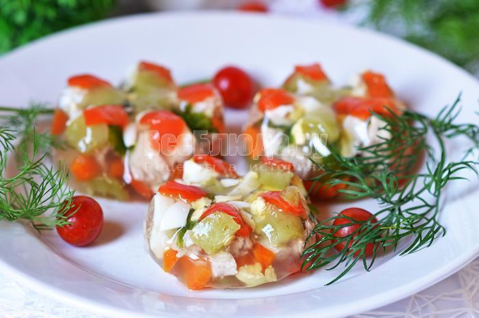 рецепт заливного из мяса с яйцами