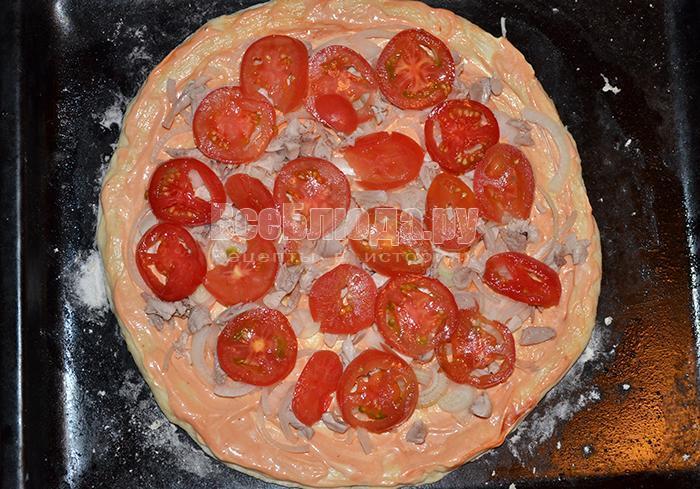 разложите помидоры
