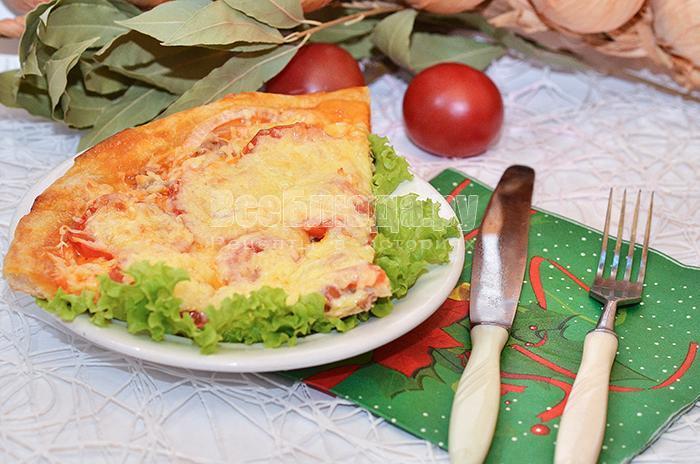 рецепт куриной пиццы с помидорами