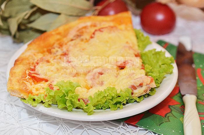 рецепт пиццы из курицы и помидоров