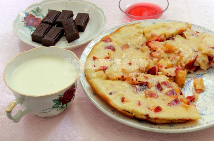 Сливы в тесте - вкусный десерт
