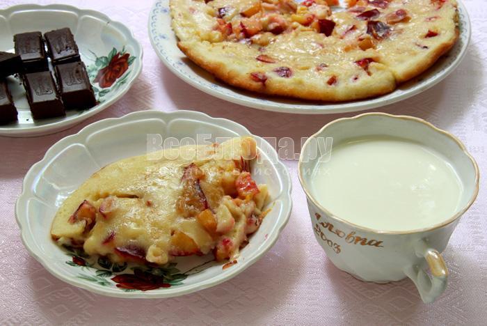 рецепт десерта из слив в тесте