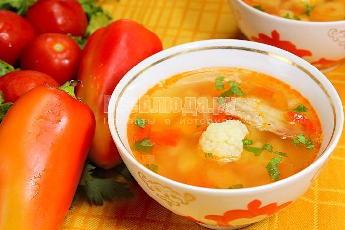 рецепт овощного супа густого