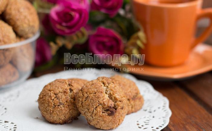 вкусное полезное печенье с шоколадом