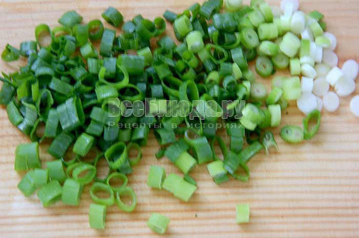 крошу зелень