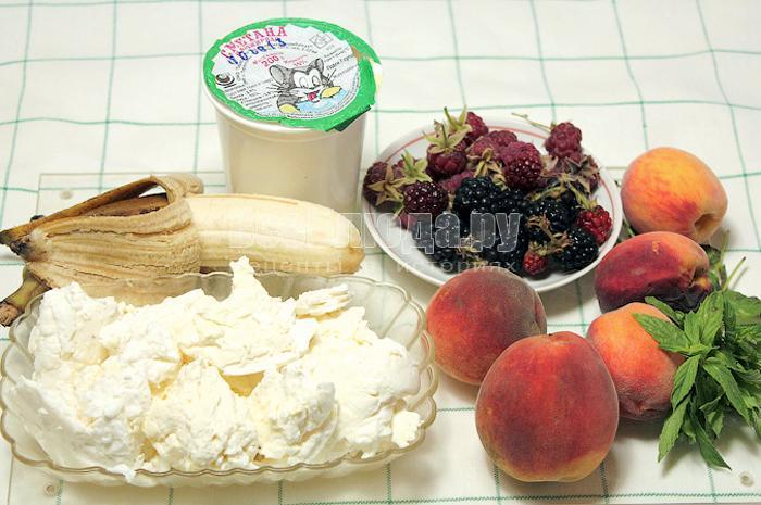 ингредиенты для творога с фруктами
