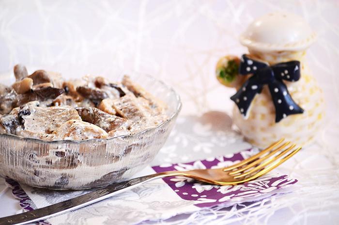 Рецепт вешенок со сметаной