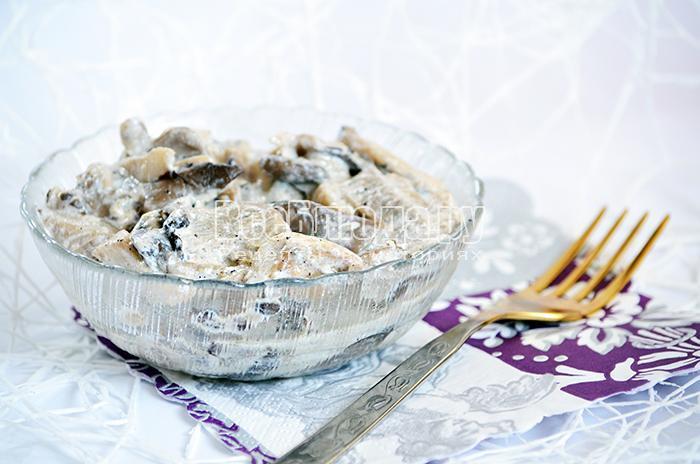 Рецепт из вешенки со сметаной