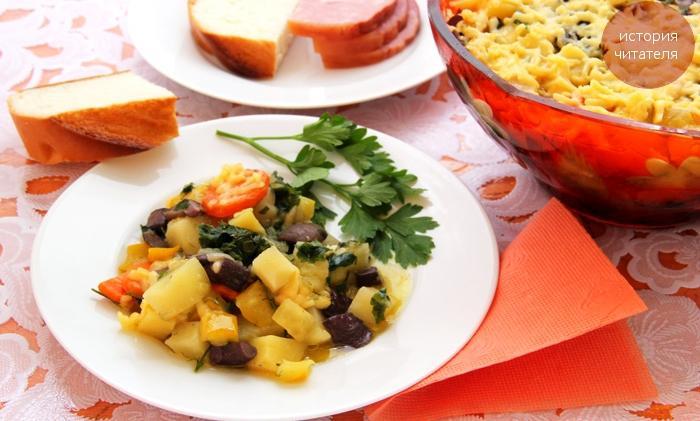 Овощное рагу с грибами и картошкой