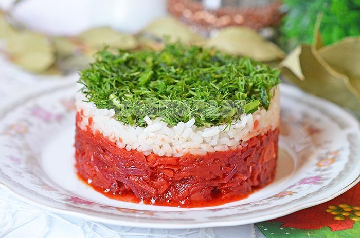 рецепт вкусного горячего салата с рисом