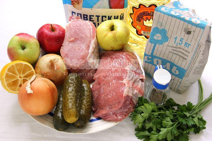 ингредиенты для пражского салата